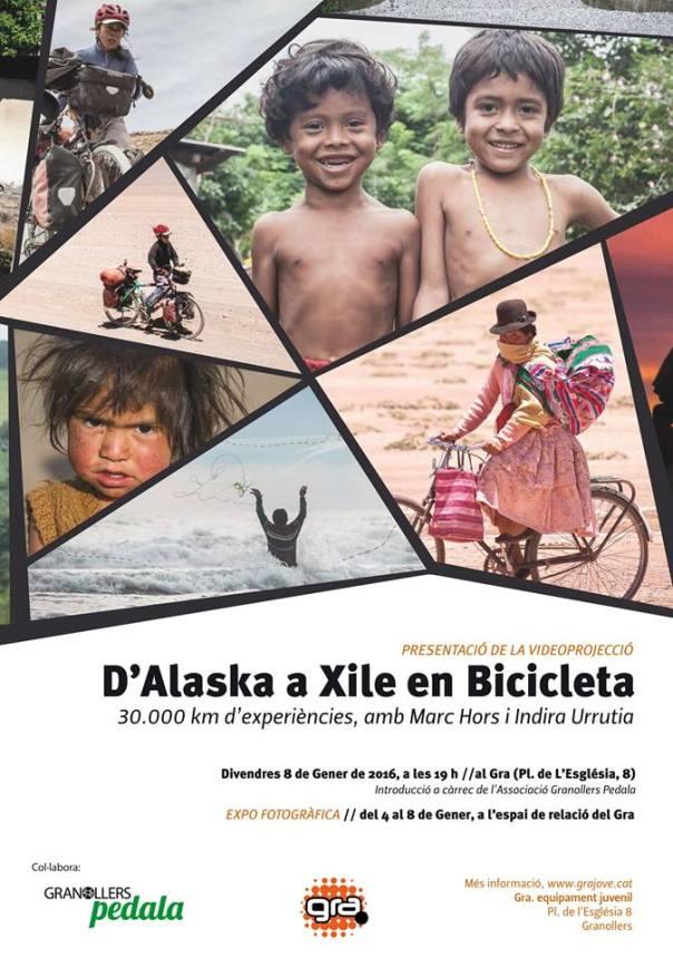 cartell alaska xile en bici