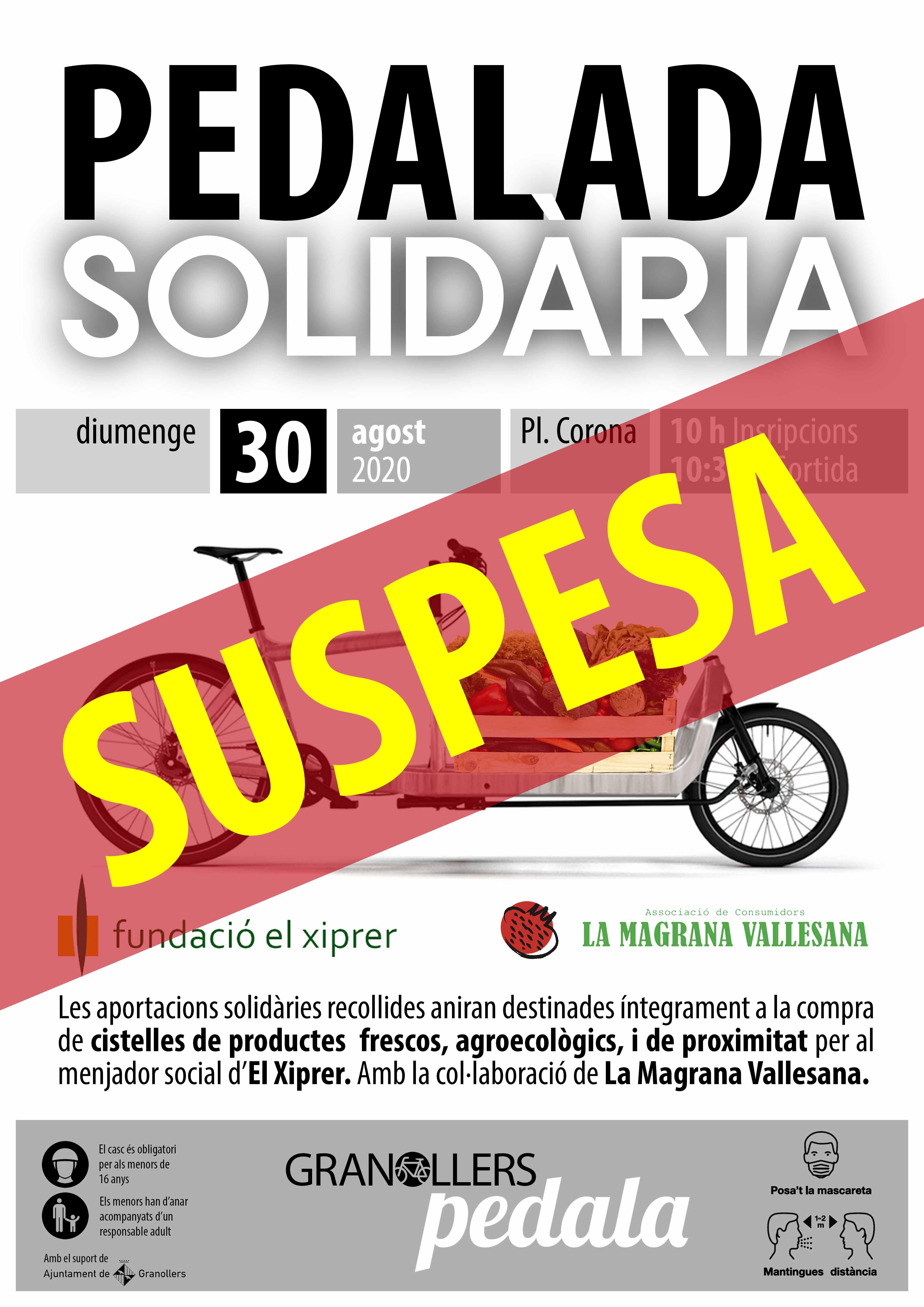 CARTELL Pedalada Solidaria 05 SUSPESA